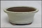 Bonsai Pot, Oval (H), 15cm, Cream, Glazed